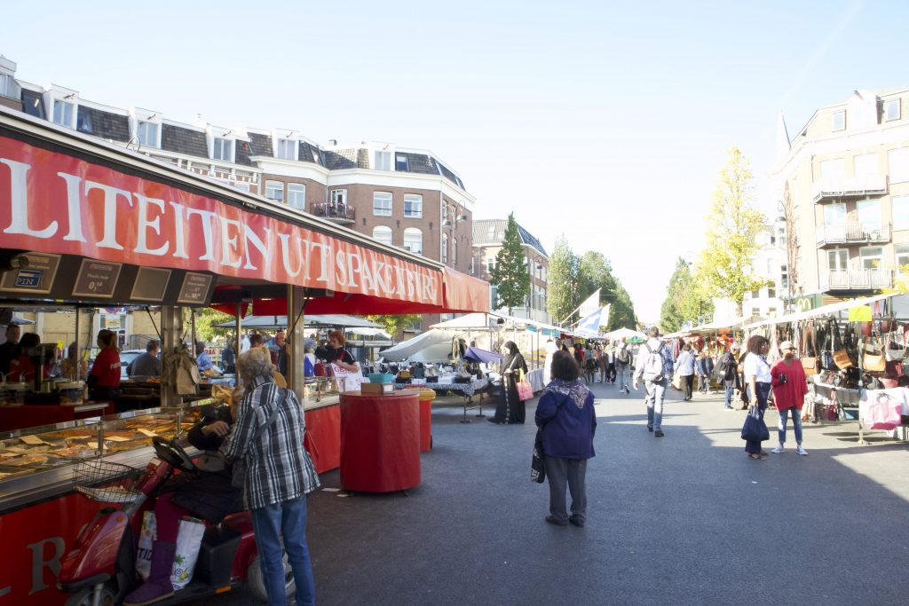 Street food in Amsterdam at Dappermarkt