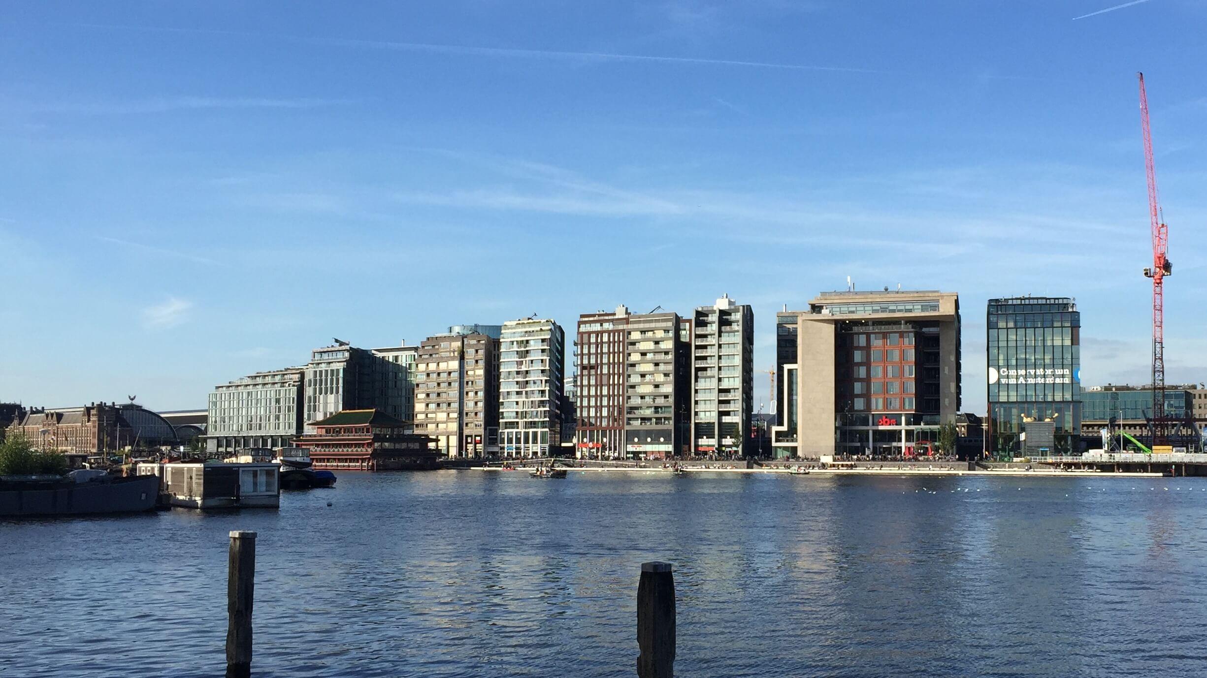 Color and Papercut Edges, Architecture on Amsterdam Travelcafé Bike Tour